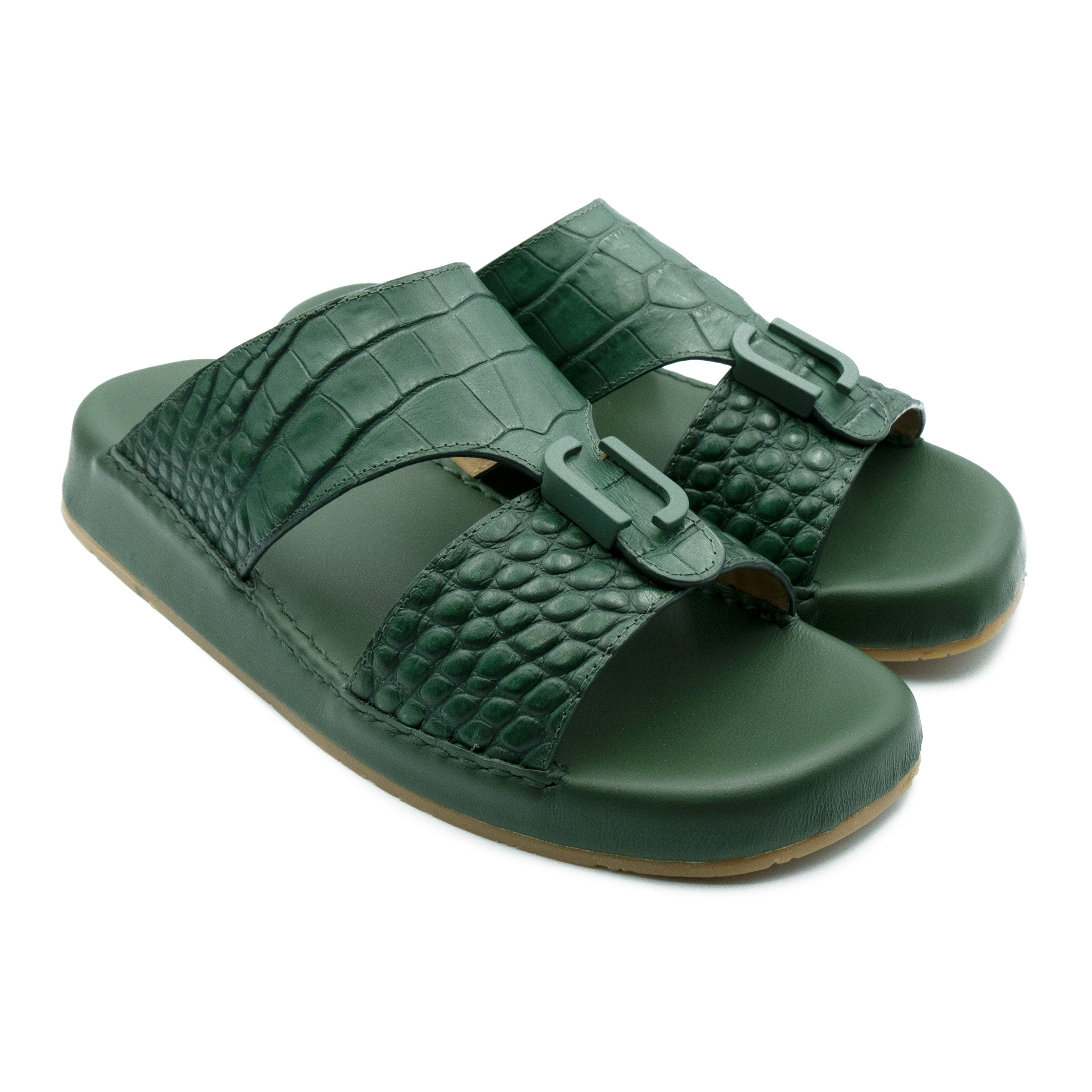 Green Matt Croco (REC01) Arabic Sandals