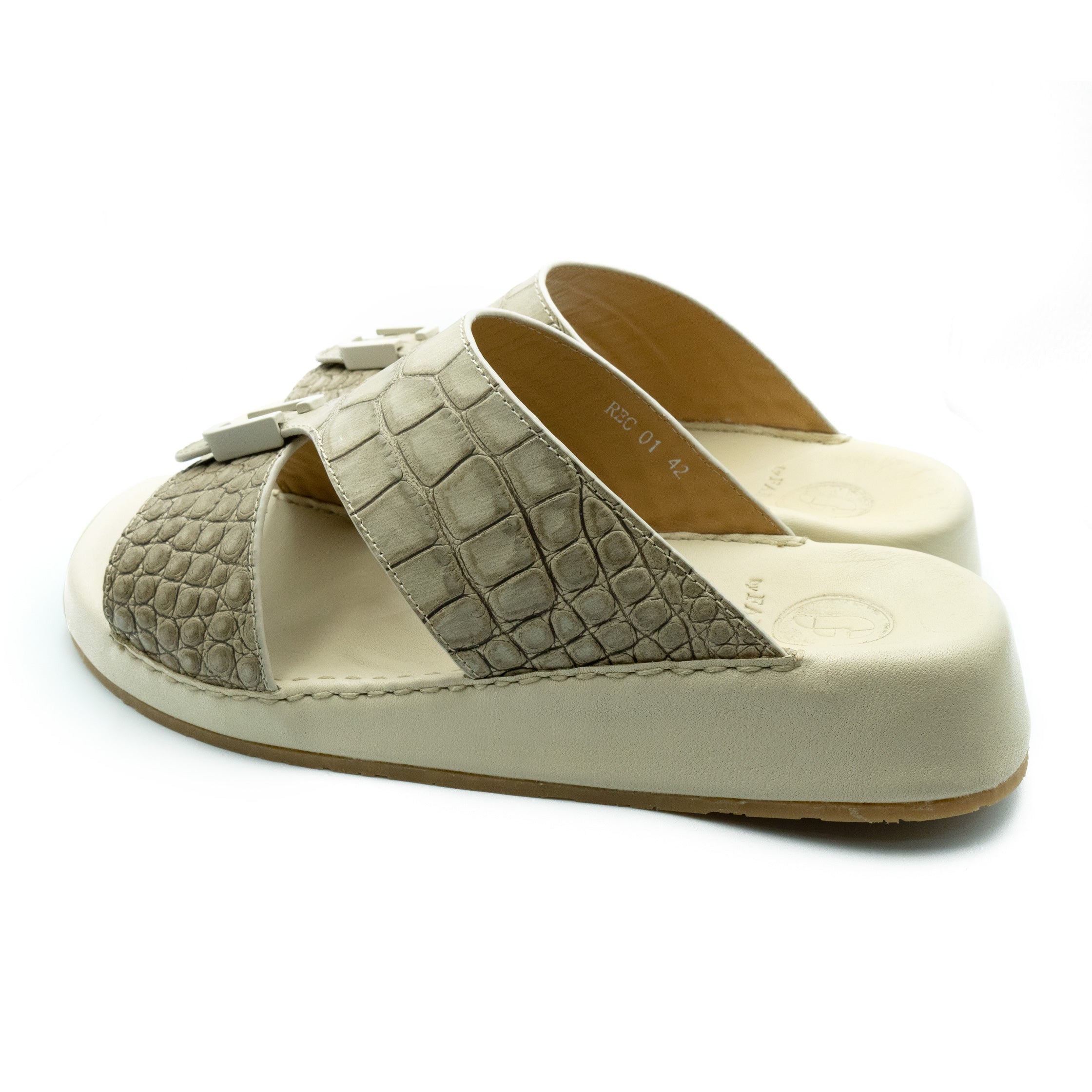 Beige Matt Croco (REC01) Arabic Sandals