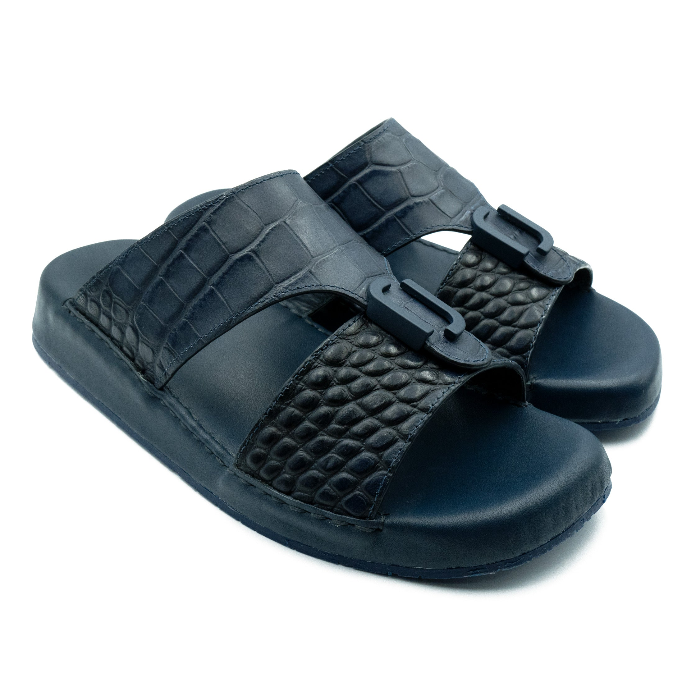 Navy Matt Croco (REC01) Arabic Sandals