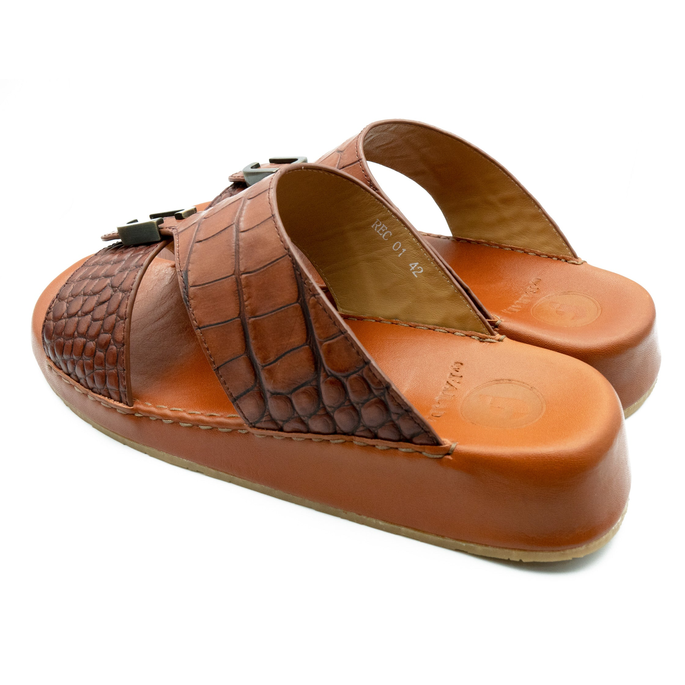 Brown Matt Croco (REC01) Arabic Sandals