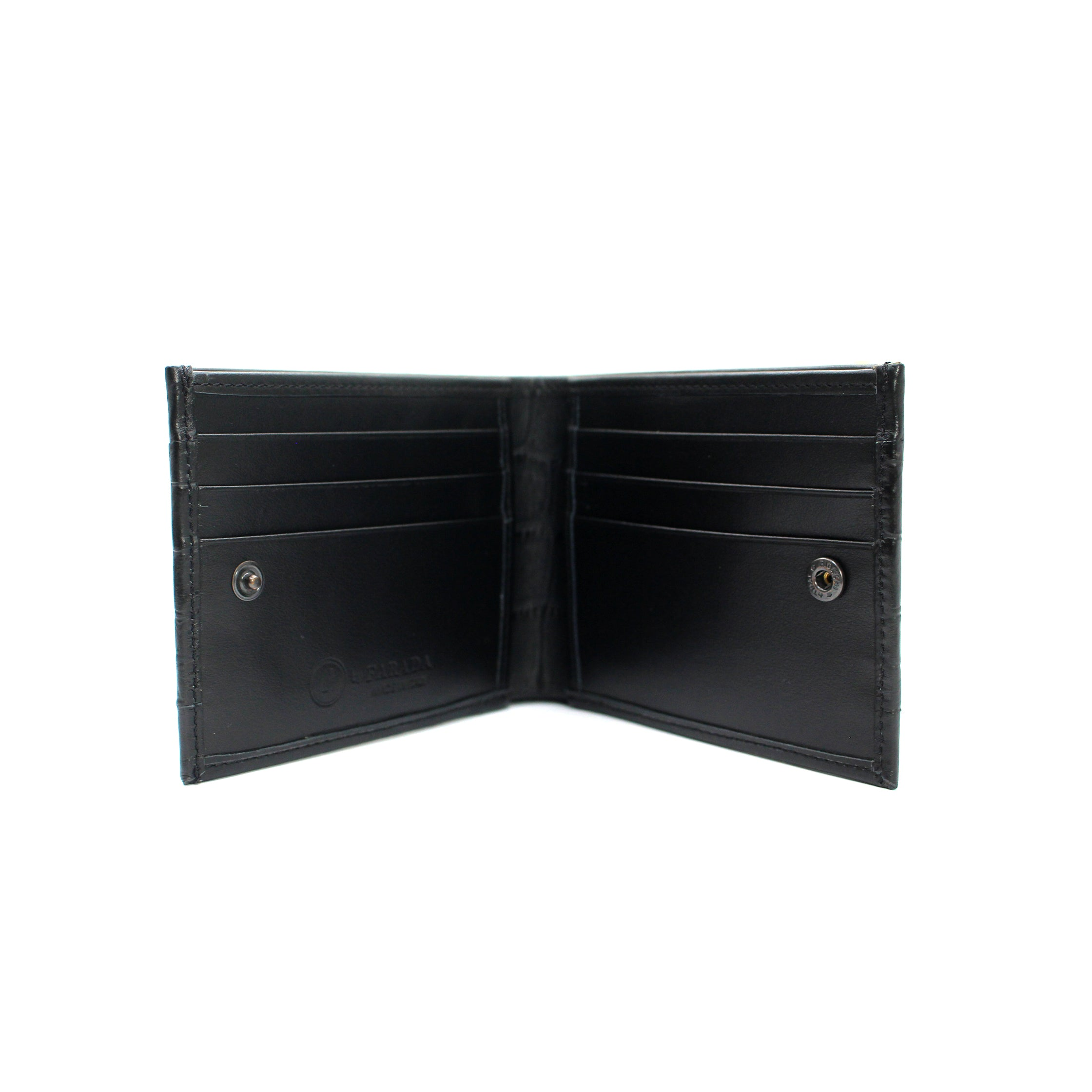 Black Matt Croco Mens Wallet (FP106)