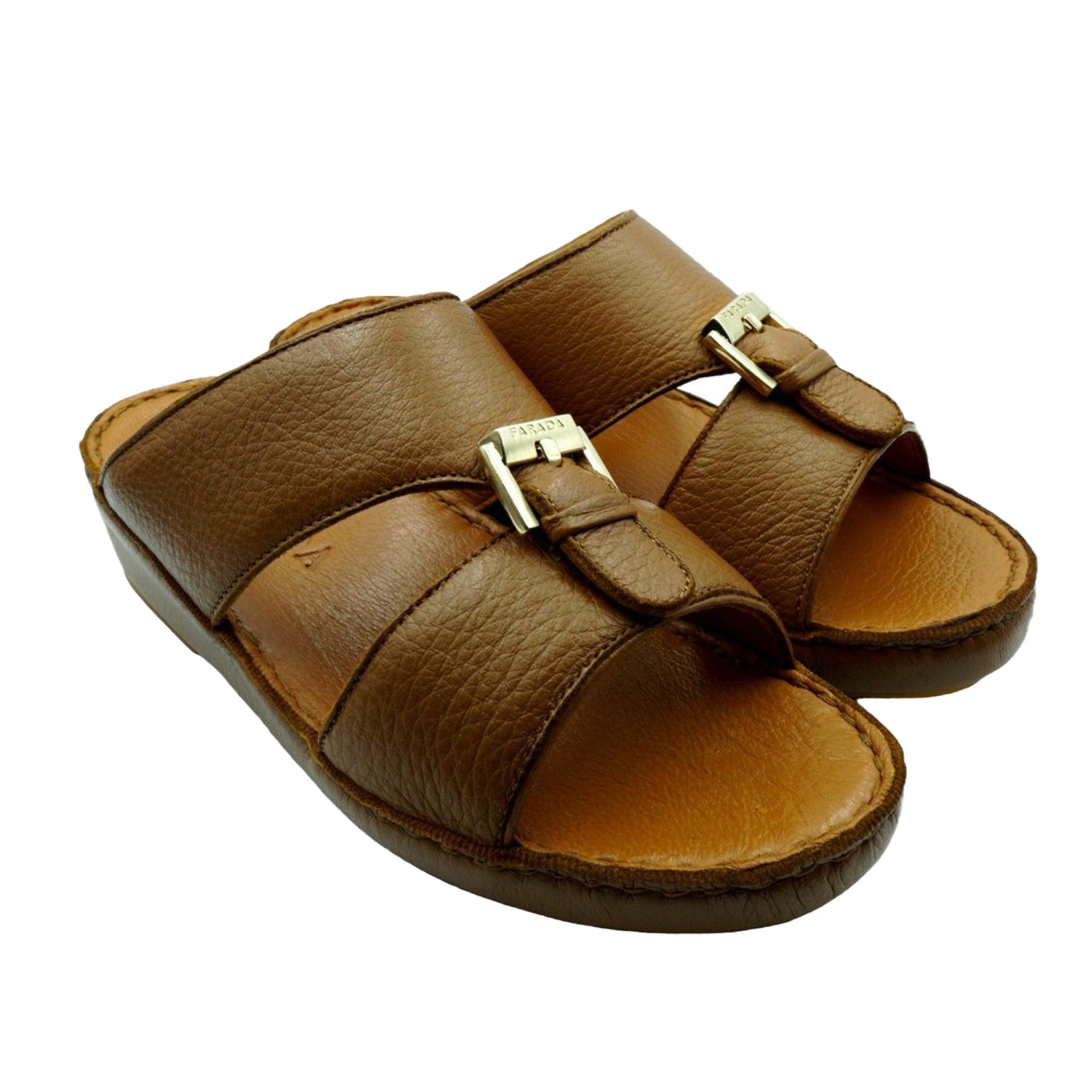 Brown Soft Deer Leather (317-3) Arabic Sandal