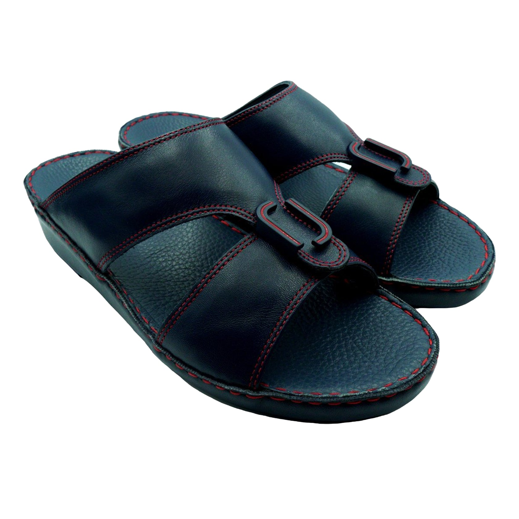 Navy Nappa Red Stitching (317-40) Arabic Sandal