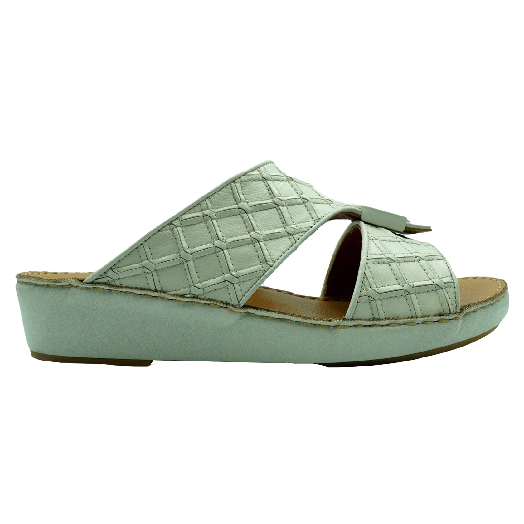 Light Grey Classic Square-Patch (317-33) Arabic Sandal