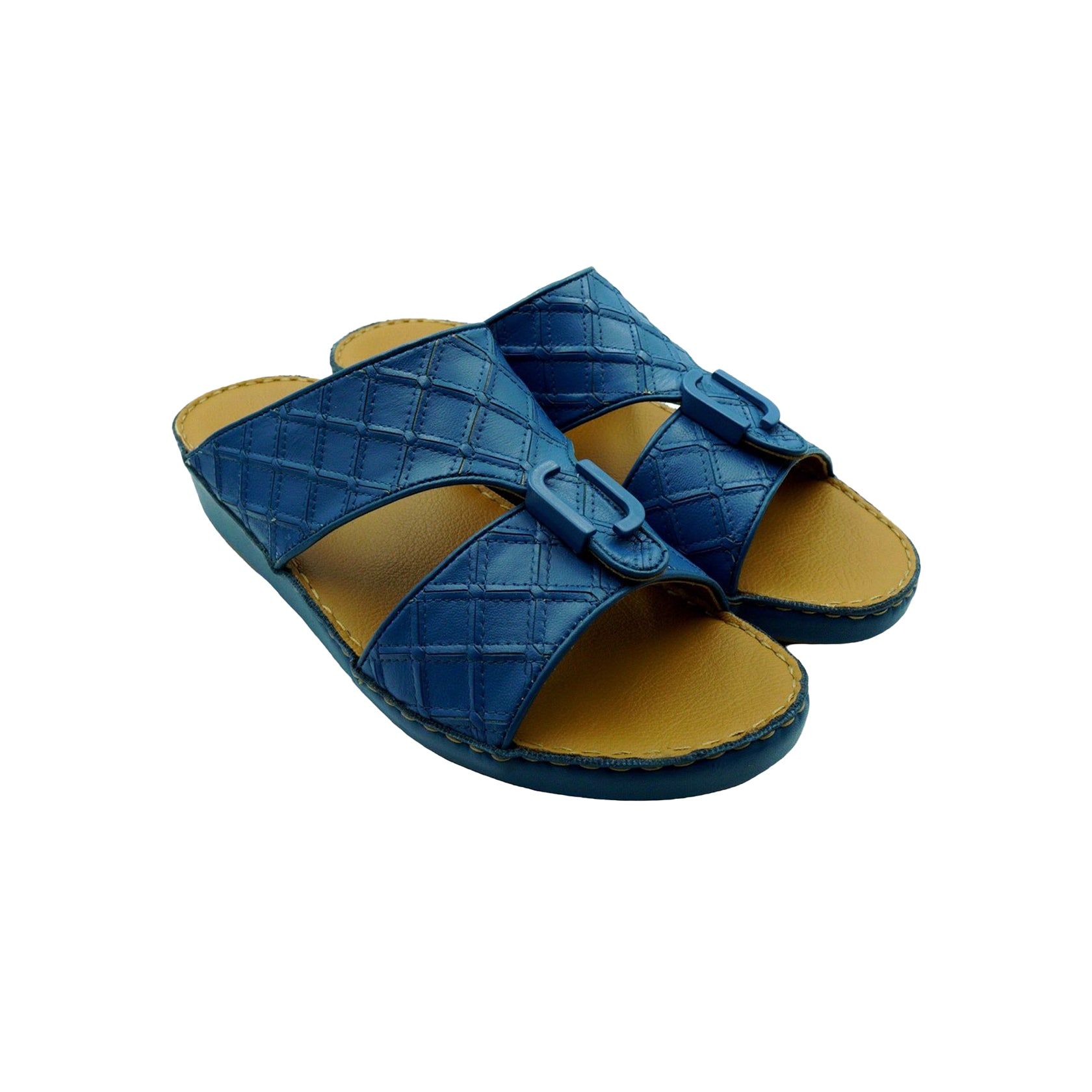 Blue Classic Square-Patch (317-33) Arabic Sandal