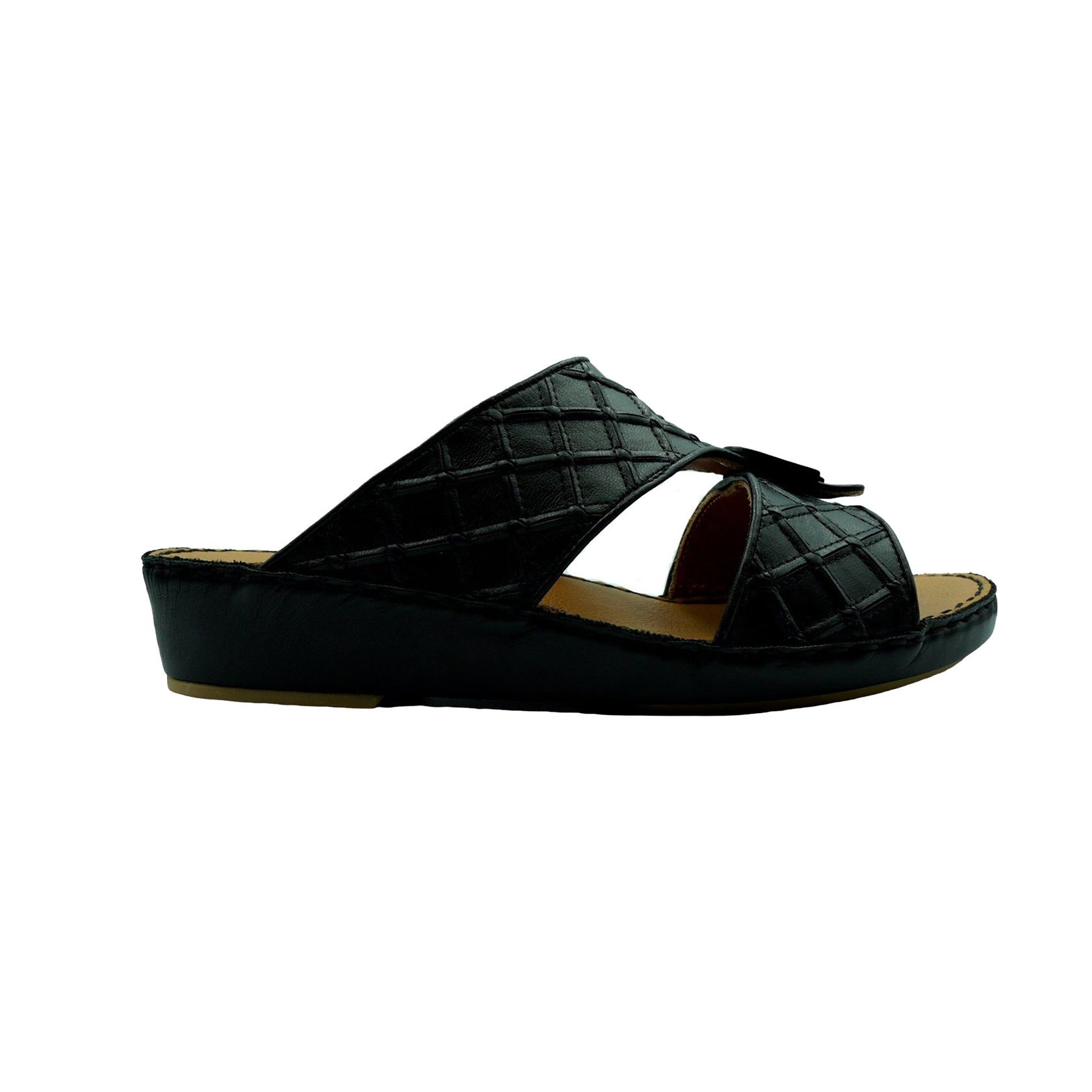 Black Classic Square-Patch (317-33) Arabic Sandal
