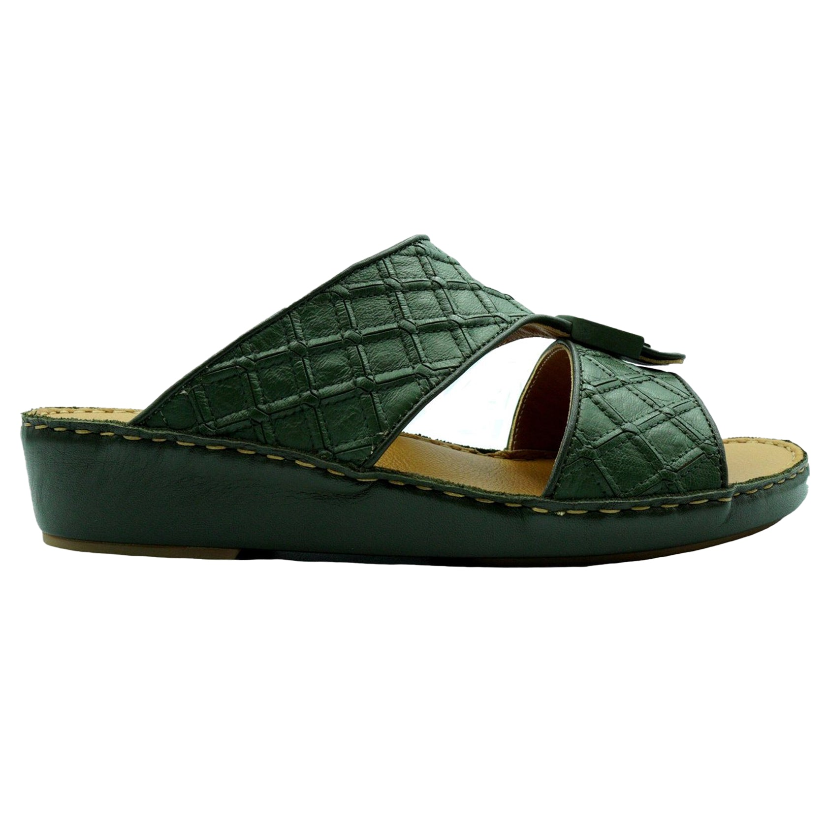 Green Classic Square-Patch (317-33) Arabic Sandal