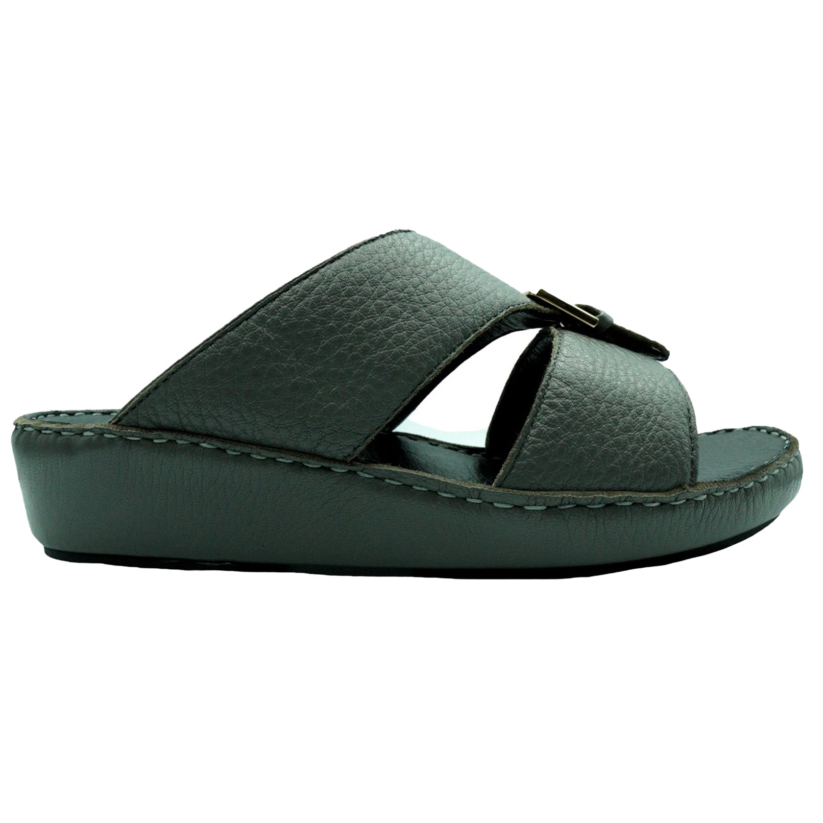 Grey Soft Deer Leather (317-3) Arabic Sandal