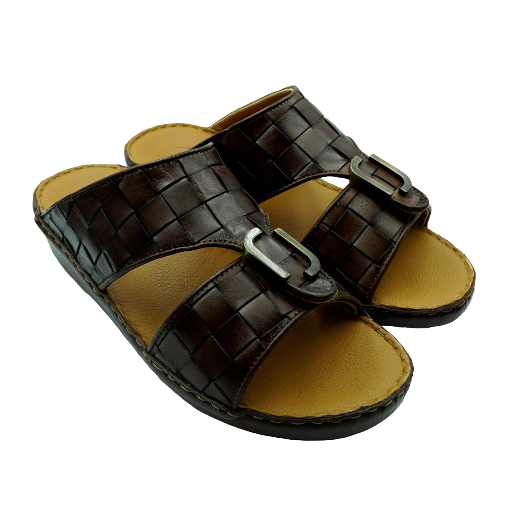 Dark Brown Classic Big-Squared Weave (317-31) Arabic Sandal