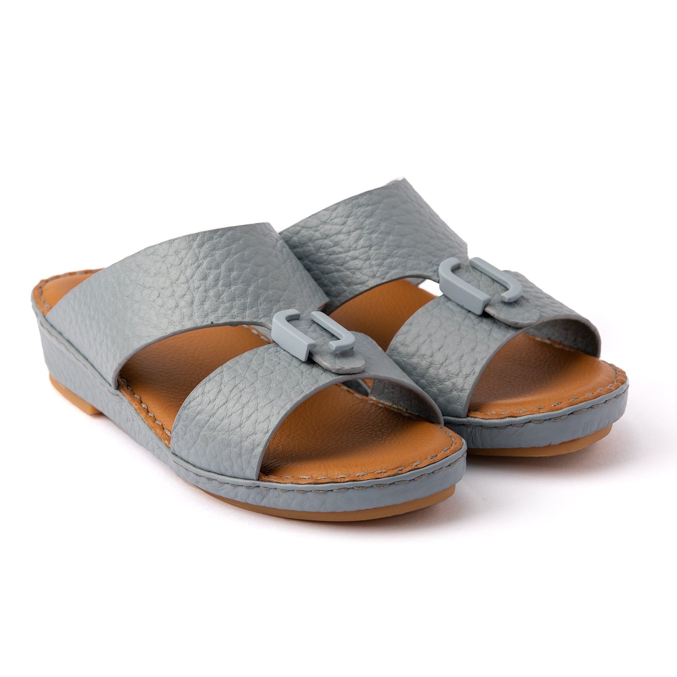 Sky Blue Unlined Milled Boys Arabic Sandals (317-80)
