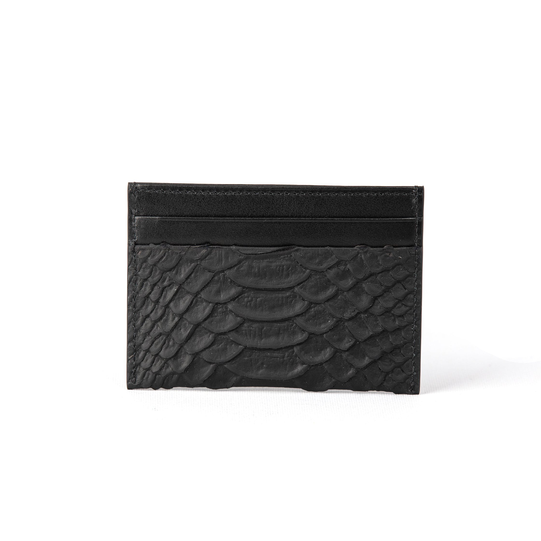 Black Matt Croco Credit Card Holder (FP106)