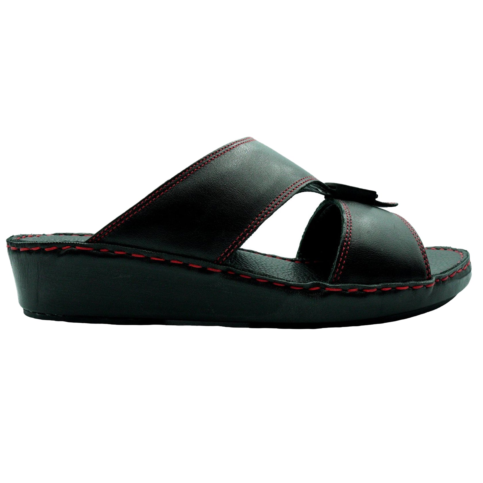 Black Nappa Red Stitching (317-40) Arabic Sandal