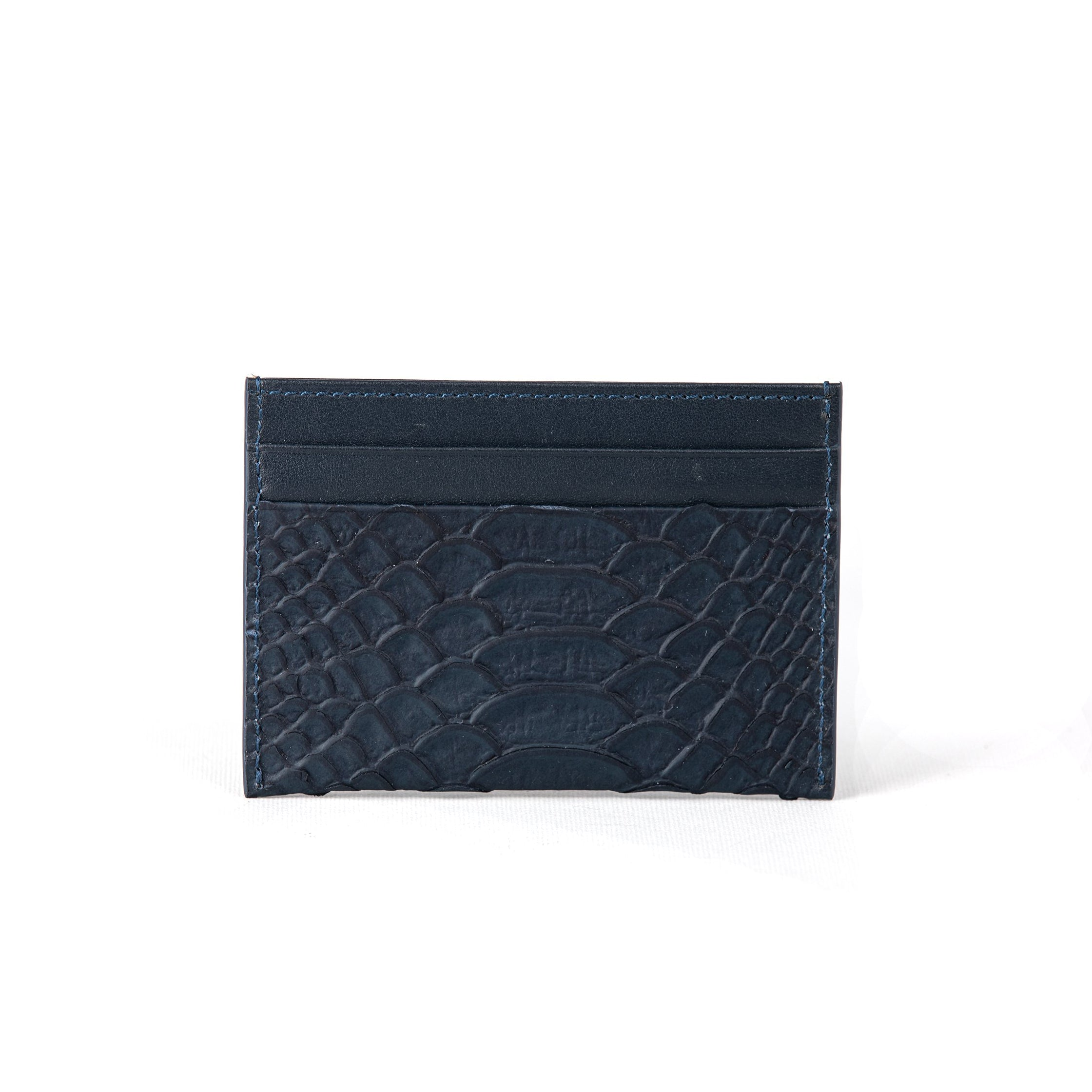 Navy Matt Piton Credit Card Holder (FP107)