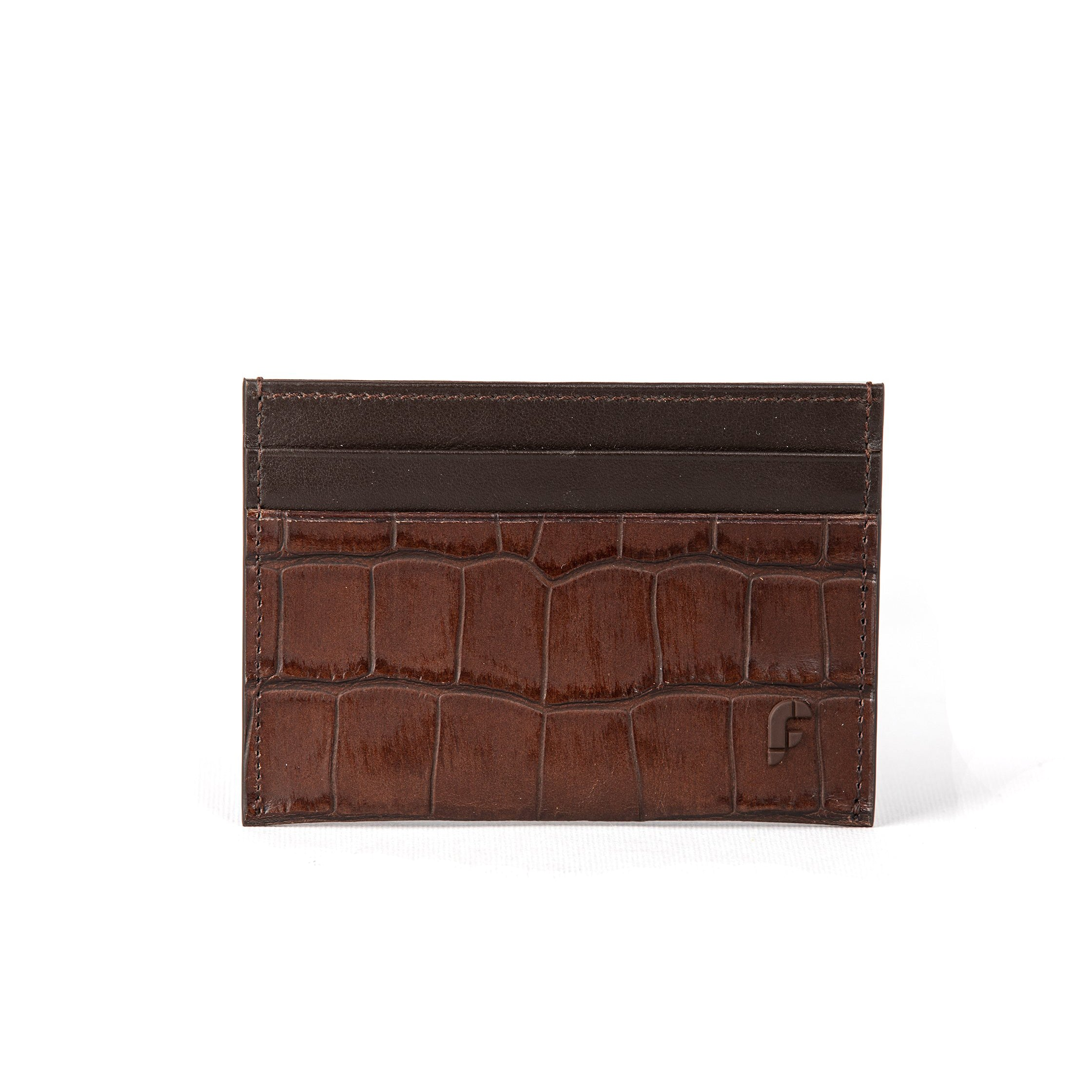 Brown Matt Croco Credit Card Holder (FP106)