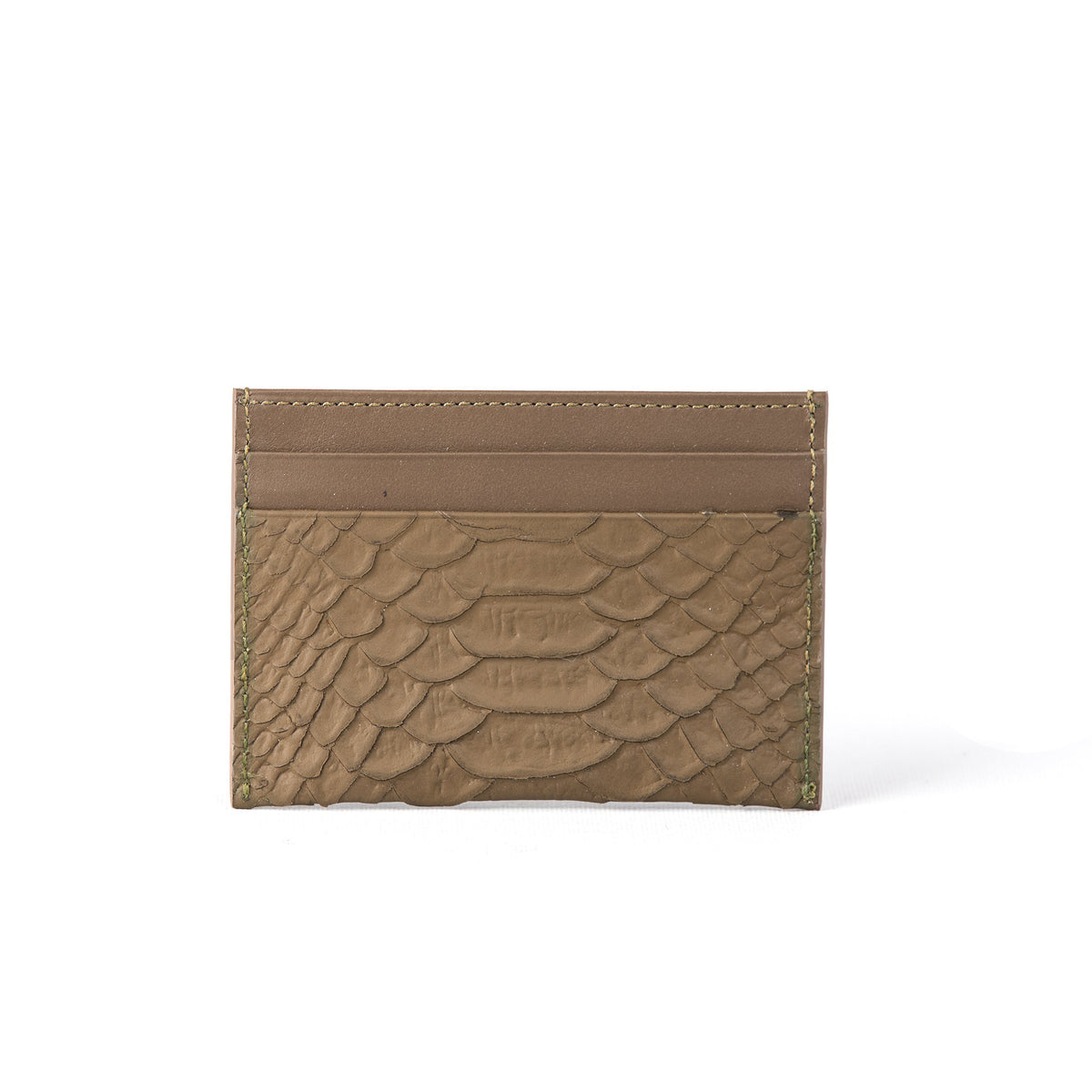 TRUFFLE MATTE PITON CREDIT CARD HOLDER (FP107)