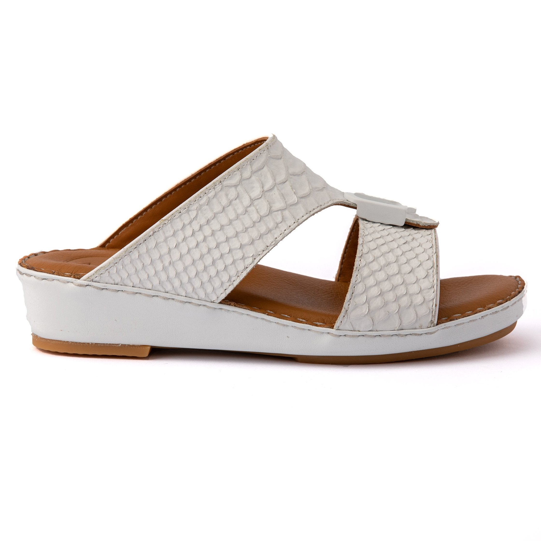 White F Pitone Boys Arabic Sandals (317-41)