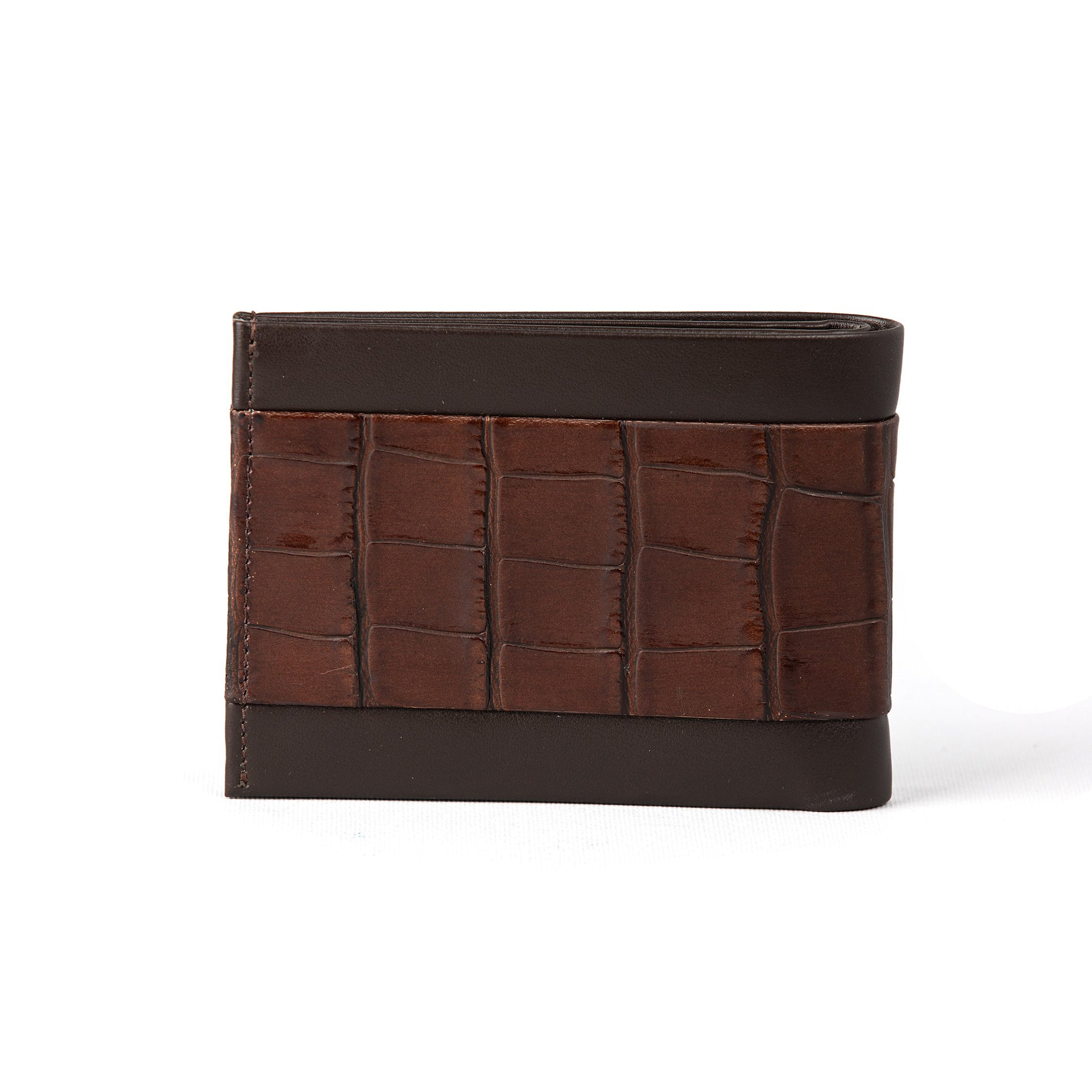 Brown Matt Croco Mens Wallet (FP106)
