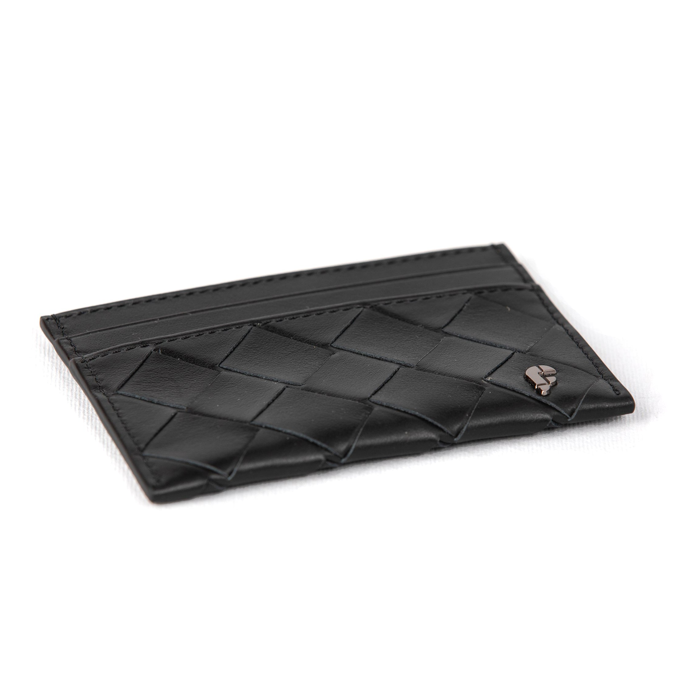Black Weaving Matte Credit Card Holder (FP105)