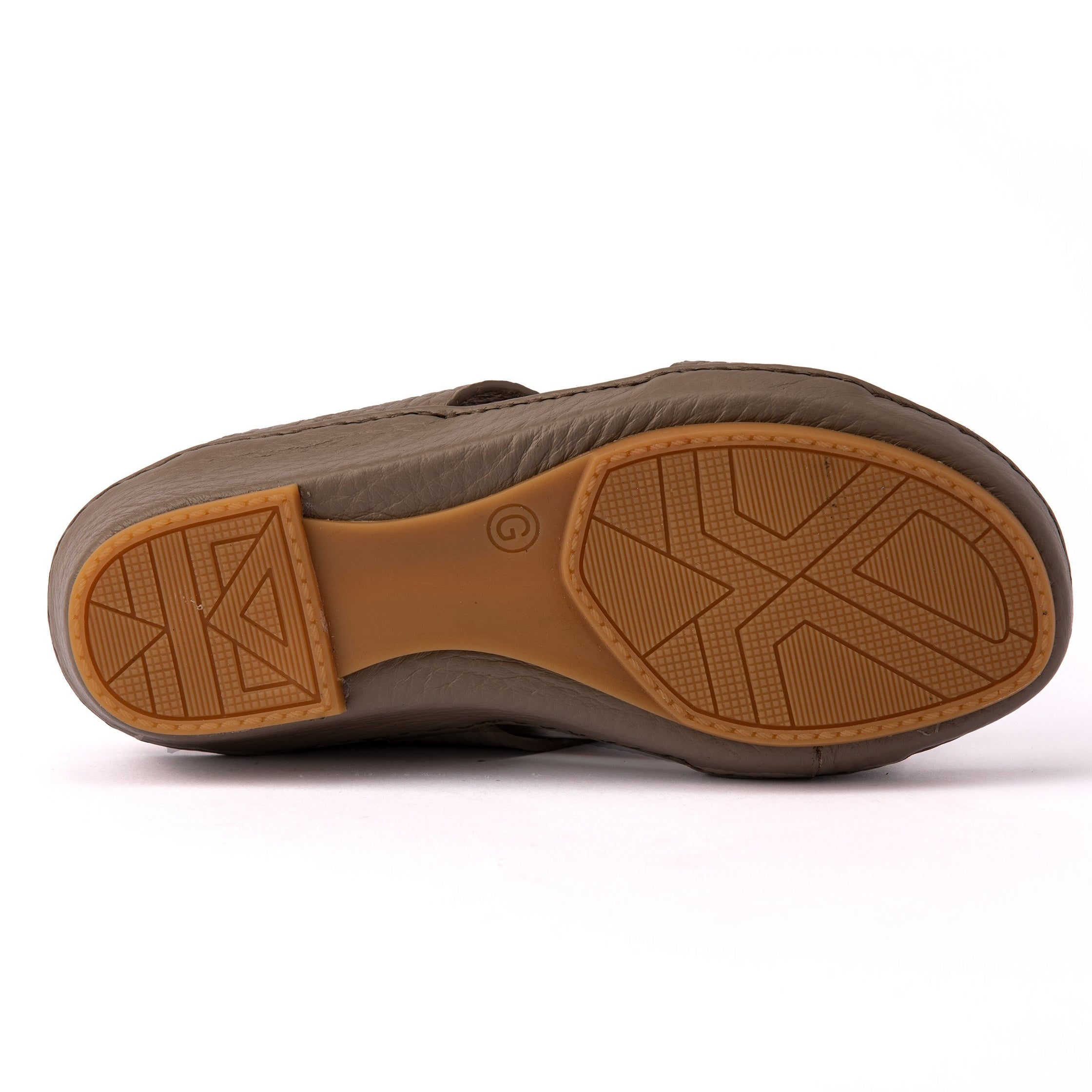Stone Unlined Boys Arabic Sandals (317-80)