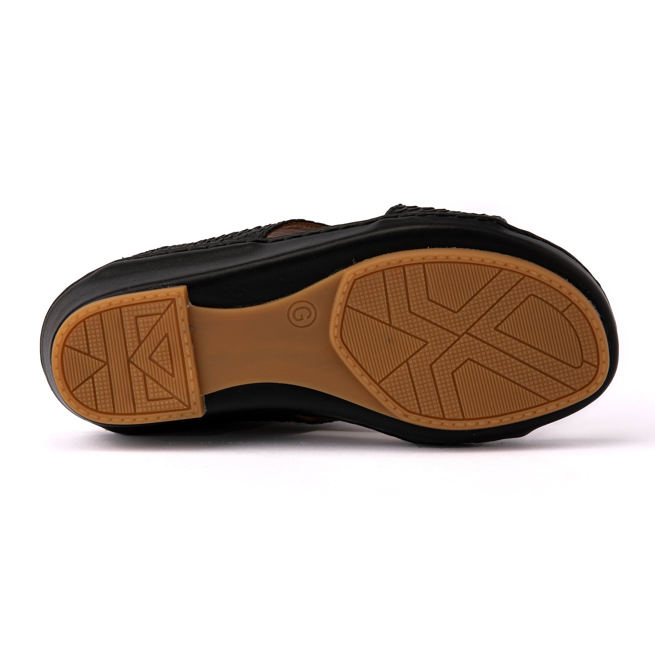 Black F Pitone Boys Arabic Sandals (317-41)