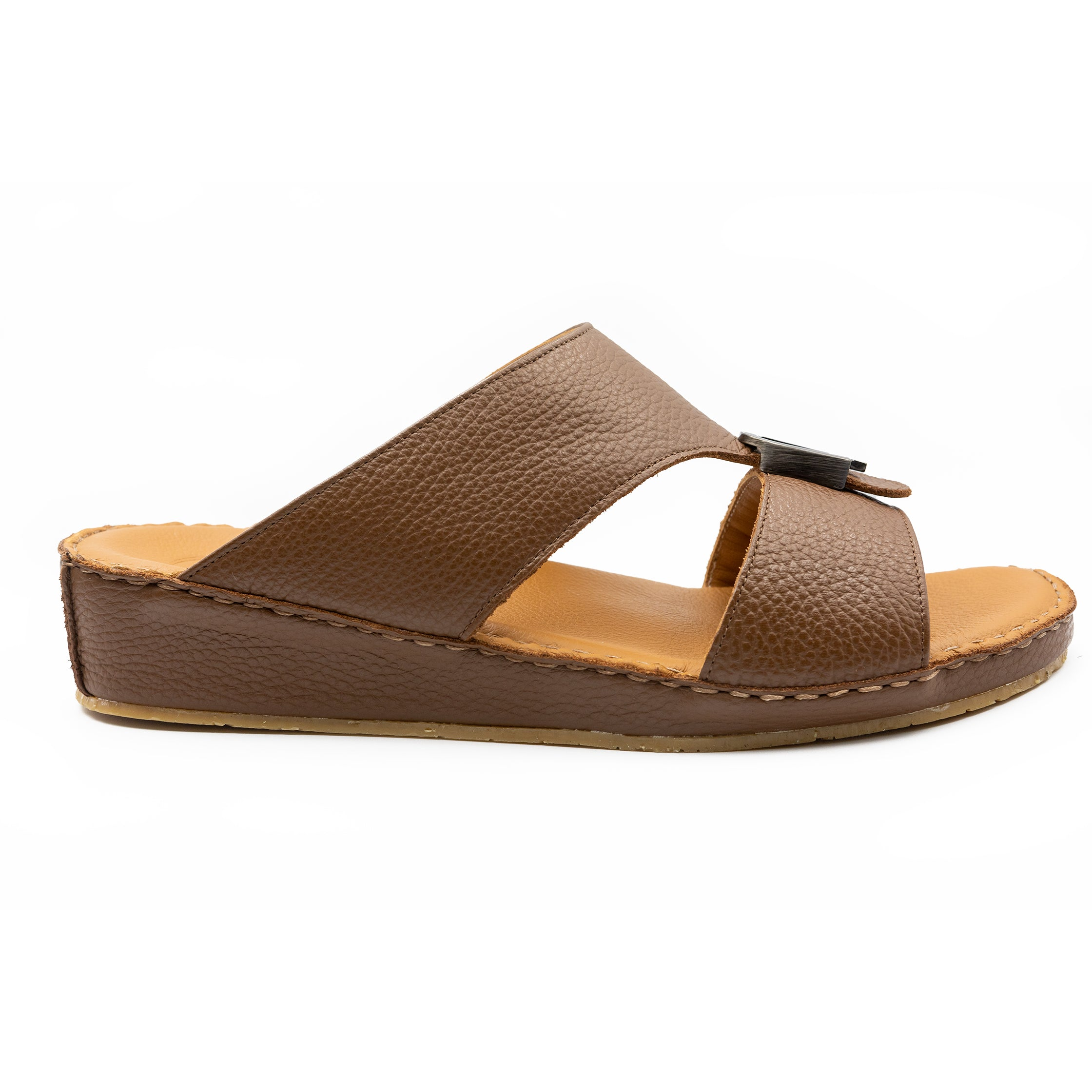 Brown Cushioned Milled Arabic Sandal(103-37)