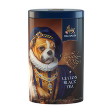 Load image into Gallery viewer, The Royal Dogs, loose leaf black tea 80g, tin BULLDOG