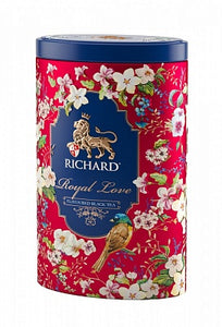 """Royal Love"" black flav leaf 80g, tin, RED"