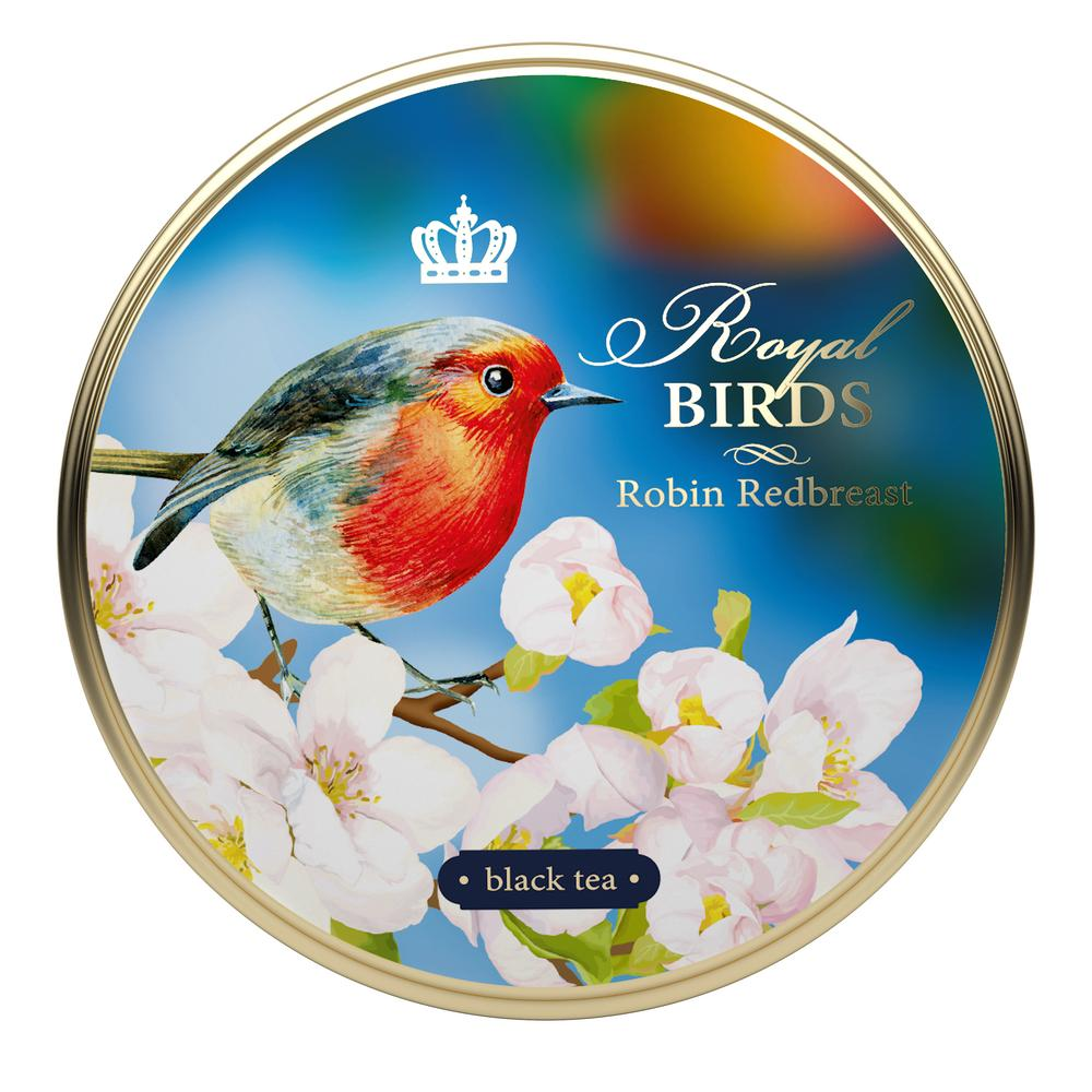 Royal Birds, loose leaf tea, tin 40 g, ROBIN REDBREAST