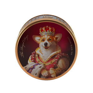 The Royal Dogs&Cats, loose leaf black tea 30g, tin, CORGI
