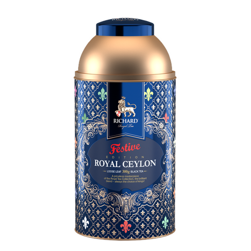 Royal Ceylon, loose leaf black tea 300g, tin, FESTIVE EDITION