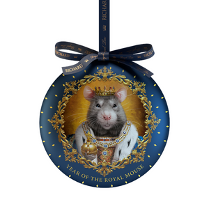 """Year of the royal mouse""  black leaf 20g, tin, KING"