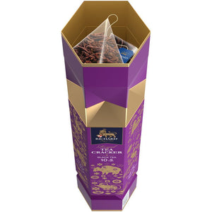 New Year Tea Cracker, loose leaf black tea, 10 pyramids, 17g VIOLET
