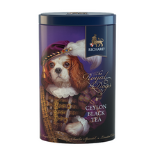 "Load image into Gallery viewer, ""The Royal Dogs"" black leaf 80g, tin KING CHARLES"