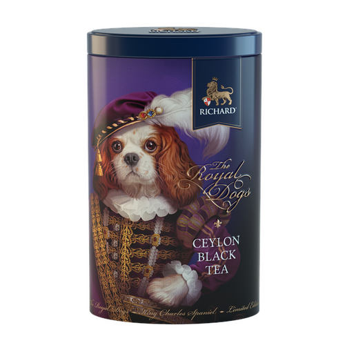 The Royal Dogs, loose leaf black tea 80g, tin KING CHARLES