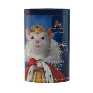 """Year of the royal mouse"" black leaf 80g, tin, QUEEN"