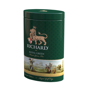"""Royal Green"" green leaf 80g, Golf tin"