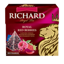 Load image into Gallery viewer, Royal Red Berries, fruit-herbal tea in pyramids, 20х1,7g