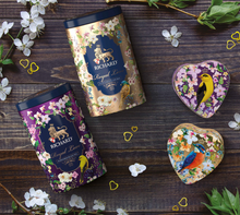 Load image into Gallery viewer, Royal Love, flavoured loose leaf black tea 80g, tin, VIOLET