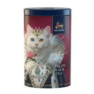 "The Royal Cats"" black leaf 80g, tin, KHAO MANEE"