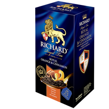 Load image into Gallery viewer, Royal Orange & Cinnamon, flavoured black tea in sachets, 25х2g