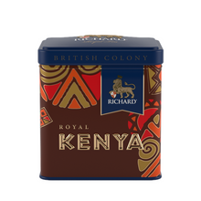 "Load image into Gallery viewer, ""British Colony Royal Kenya"" black leaf 50g, tin"