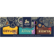 Load image into Gallery viewer, Royal Tea Collection From Around The World, loose leaf black tea assortment in tins, 3x50 g