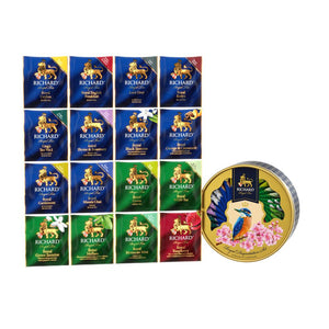 Royal Degustation Set Tea Collection, tea assortment in sachets, 60.6 g, KINGFISHER