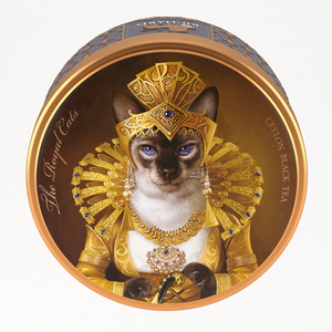 """The Royal Dogs&Cats"" black leaf 30g, tin, SIAMESE"