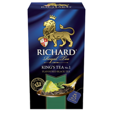 Load image into Gallery viewer, King's Tea №1, flavoured black tea in sachets 25x2g