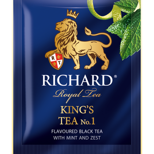 King's Tea №1, flavoured black tea in sachets 25x2g