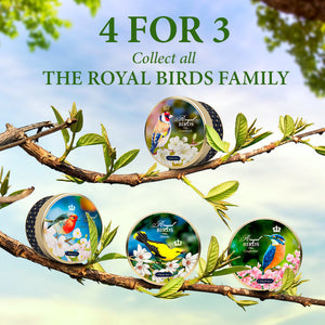 Royal Birds, loose leaf tea, tin 40 g, SET OF 4 TINS