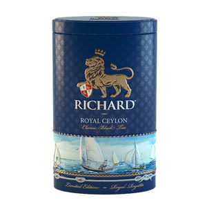 """Royal Ceylon"" black leaf 80g, Regatta tin"