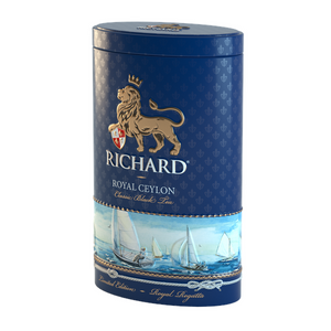 Royal Ceylon, loose leaf black tea 80g, Regatta tin