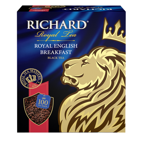 Royal English Вreakfast, black tea in tea bags, 100x2g